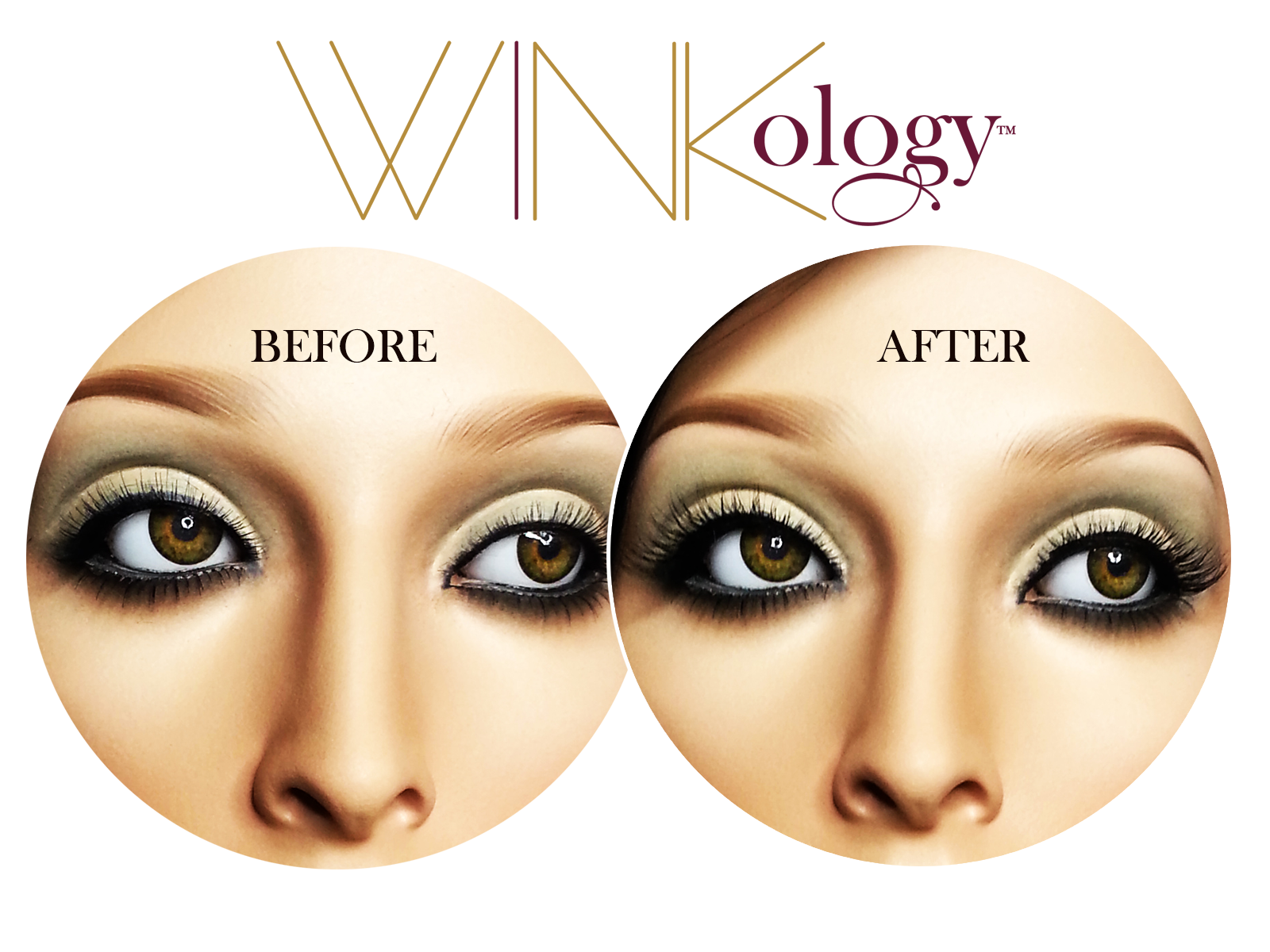 Winkology Lashes Before & After Shot